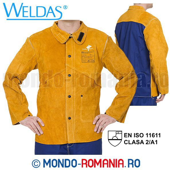 Echipament sudor - Jacheta sudor Weldas Golden Brown Kevlar