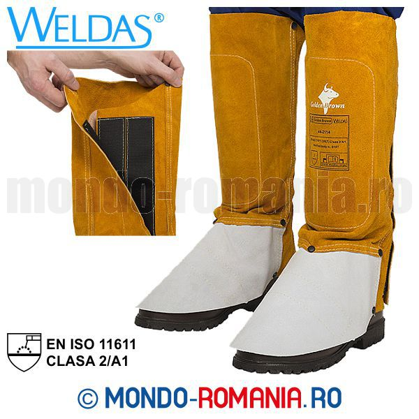 Jambiere sudura Kevlar WELDAS Golden Brown - Echipament sudor