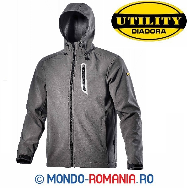 Jacheta outdoor, windstooper - Softshell Diadora SAIL gri